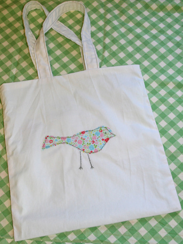 Birdappliquebag